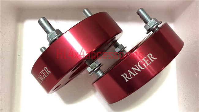 2pcs aluminum front coil shock spacer lift spacer Strut Spacers 32mm thickness for Ford ranger T6