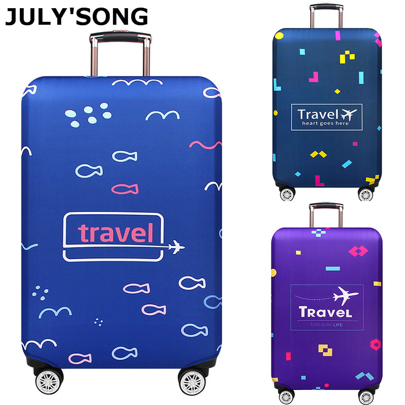 JULY'S SONG Suitcase Travel Luggage Cover Elastic Dust Trolley Protection Cover Comfort And High Quality Travel Accessories