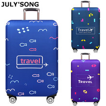 JULYS SONG Suitcase Travel Luggage Cover Elastic Dust Trolley Protection Comfort And High Quality Accessories