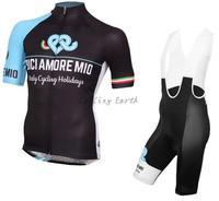 Bici Amore Mio 2016 manga corta ciclismo Jersey BiB cortocircuitos conjunto ropa deporte Jersey MTB bicicleta ropa ciclismo
