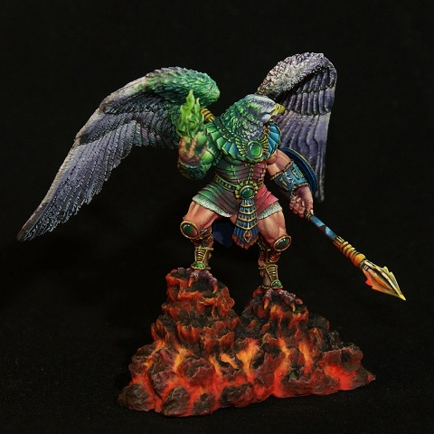 1/32 65MM Eagle 65mm WITH BASE   Toy Resin Model Miniature Resin Figure Unassembly Unpainted