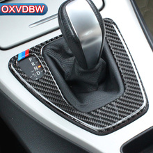 For bmw e90 e92 e93 Interior Trim Carbon Fiber Gear Shift Control Panel Cover Sticker Car styling 3 series accessories недорого