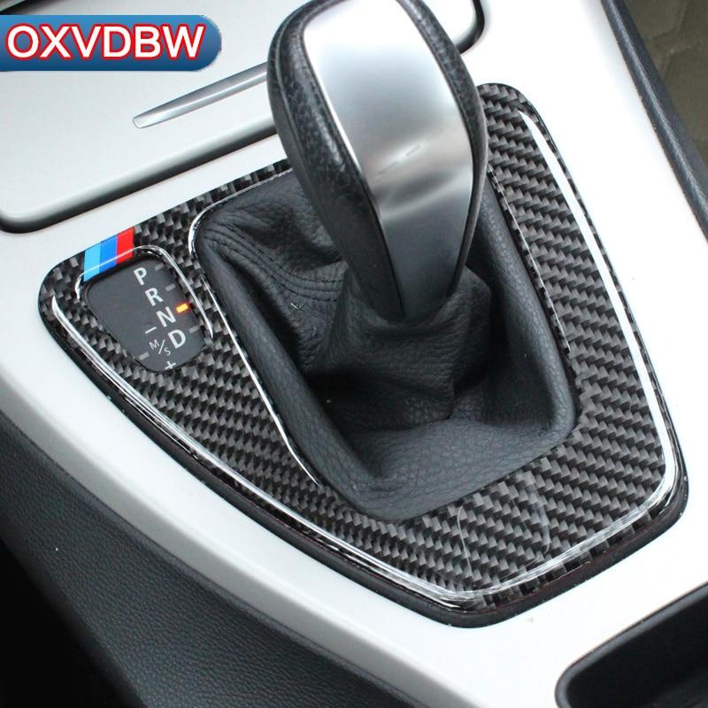 6885a59e3fc9 For bmw e90 e92 e93 Interior Trim Carbon Fiber Gear Shift Control Panel  Cover Sticker Car styling 3 series accessories