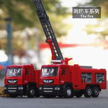 Alloy Fire Truck Military Truck Toy Car Model Simulates Real Open Doors Sound Light Kid's Toy Out Floor Fun Games Make Friends цена