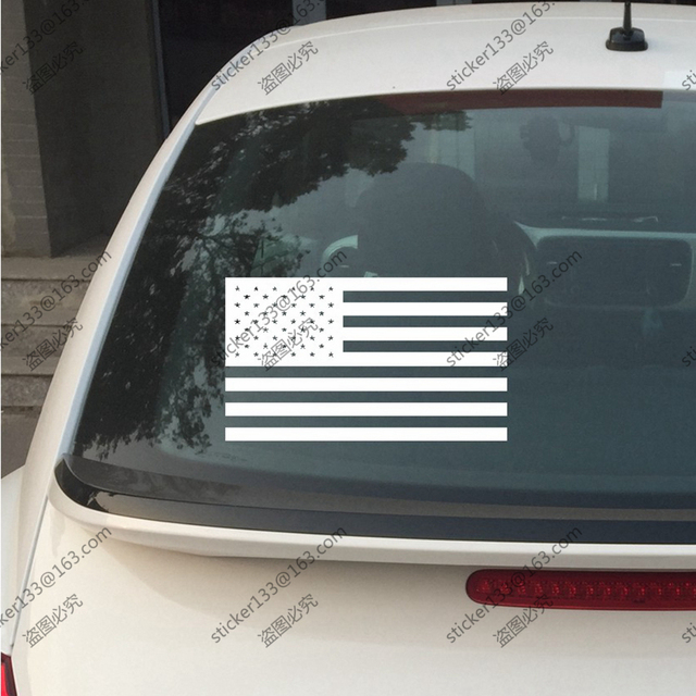 Flag of the united states of america american flag usa flag car vinyl decal bumper sticker