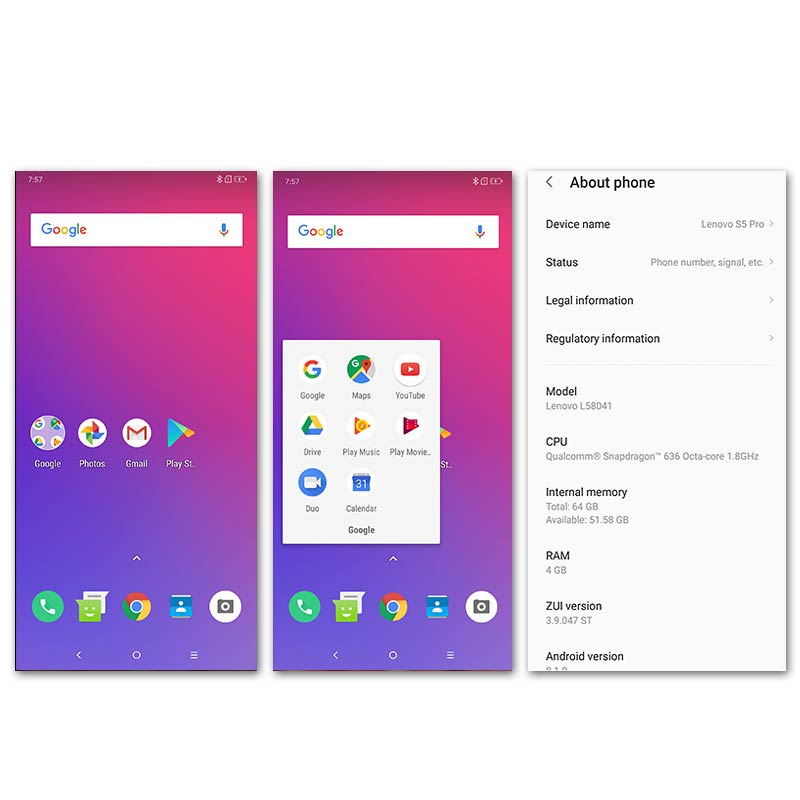 Image 4 - Lenovo S5 Pro 6G 64G Global Version 20.0MP Rear Camera Snapdragon 636 Octa Core 1.8GHz 3500mAh Battery Face ID Mobile phone-in Cellphones from Cellphones & Telecommunications