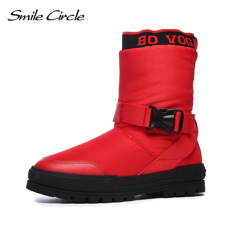 De Botas Invierno Negro Zapatos Desgaste Felpa Plana Impermeable Mujer blanco Cálido Nieve Plataforma 2018 Fácil Gruesa Grueso Negro Blanco rojo 5FqESx