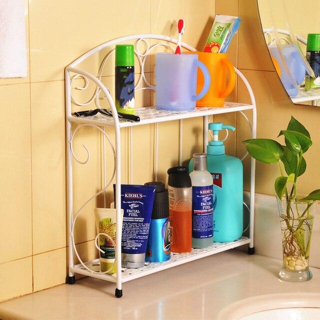 household Multilayer bathroom toilet racks kitchen storage rack-in ...