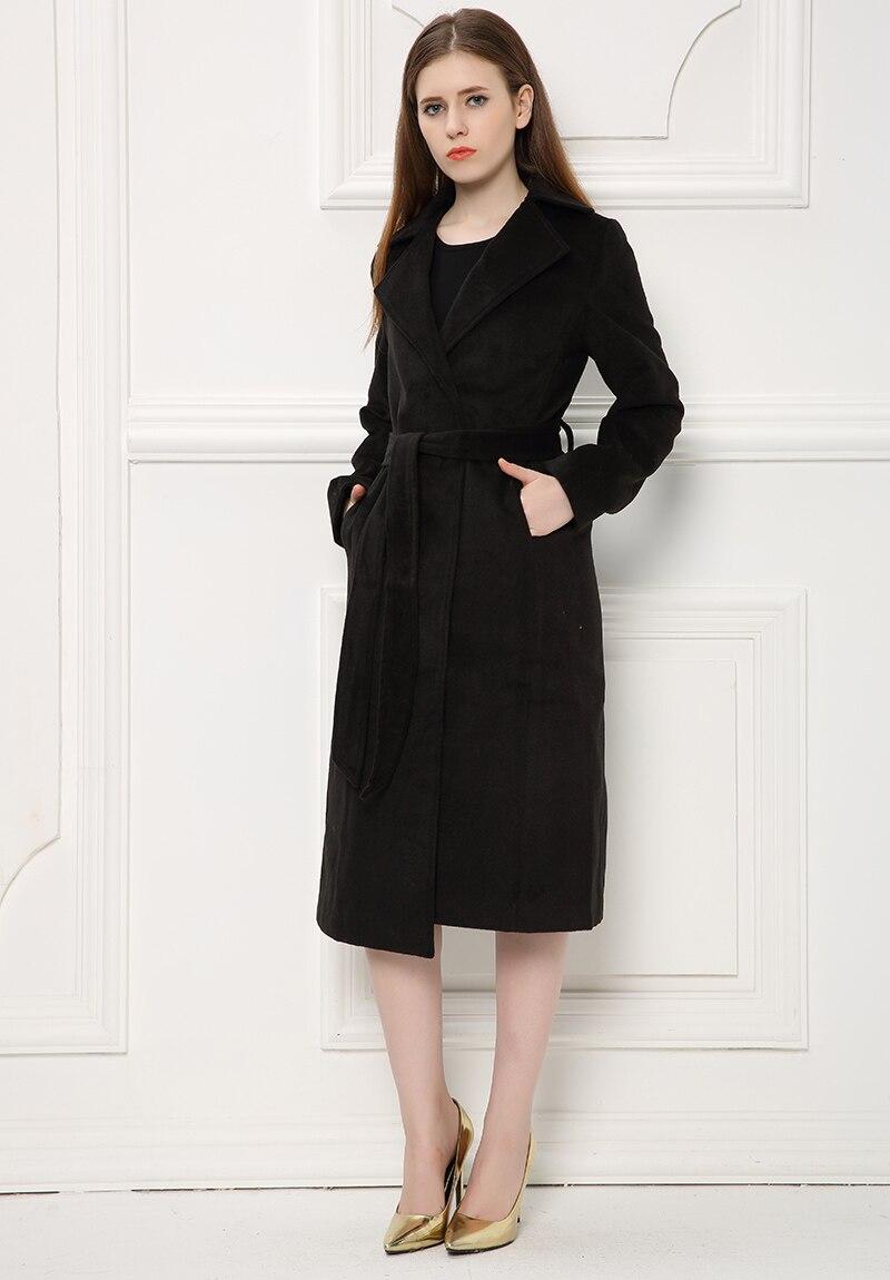 New Style Ultra Long Woolen font b Jacket b font for Fashion Ladies font b Women