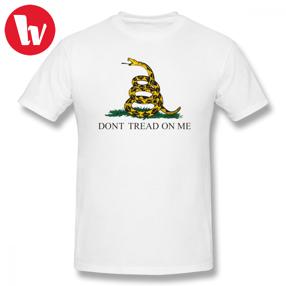 f3b45b7d409 Dont Tread On Me Tee Shirt The Gadsden Flag T-Shirt Men Cartoon Print  Oversized