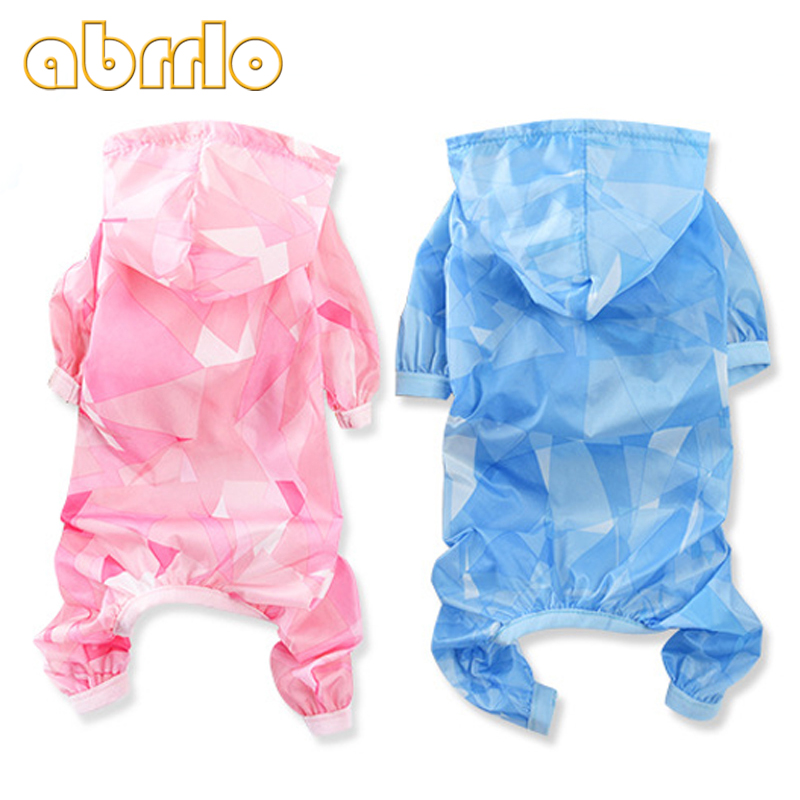 Abrrlo Dog Transparent Raincoat Pet Waterproof Clothes Jacket for Small Large Dog Raincoat Clothing Puppy Coats Summer Rain Coat
