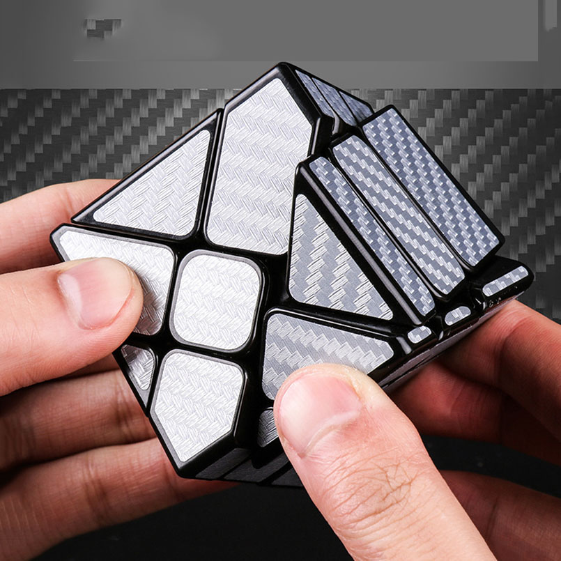 2018 New Carbon Fiber Sticker Magic Cube 3x3x3 Professional Competition Speed Puzzle Ghost Cube Educational Toys