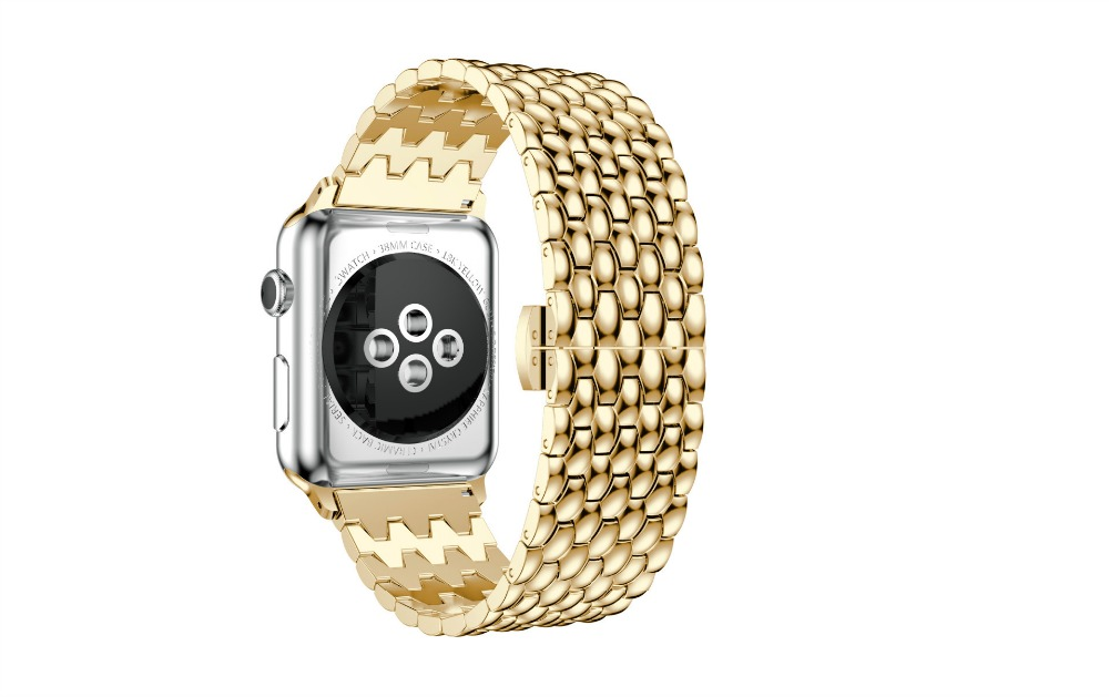38/42mm Stainless Steel Watchband for iWATCH With Adapters Wrist Strap Replacement Band Apple Watch Band Butterfly Buckle Silver soft rubber watchband 26mm for executive 243 men replacement silicone watch band steel butterfly buckle wrist strap black blue