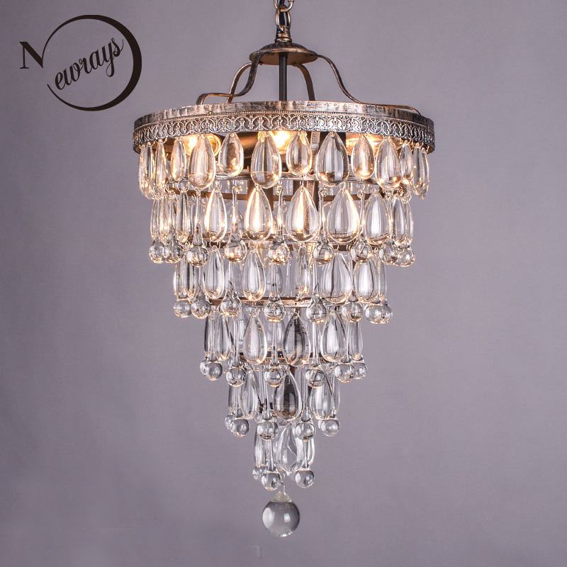 Restoration Hardware Discontinued Lighting: Retro Antique Cooper Crystal Drops Chandeliers/LARGE