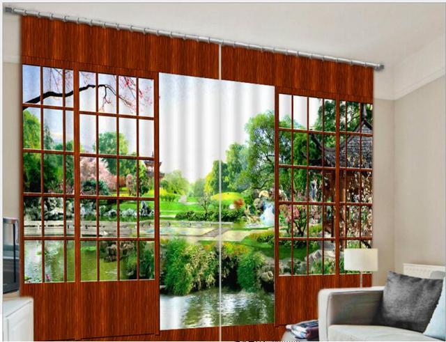 nieuwe moderne verduisterende gordijn mooie tuin 3d gordijnen voor beddengoed woonkamer hotel gordijnen cortinas de sala