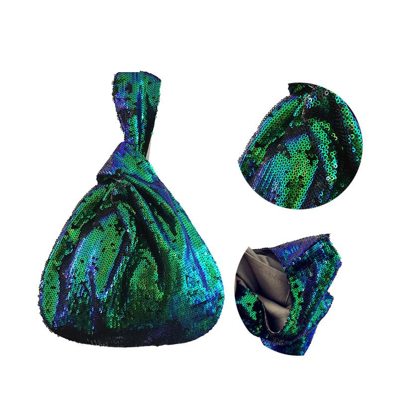 Da Modo Sequins Mano Piccolo Delle Polso Donne Stile Green Fatte Borsa Ragazze Vintage Borse Materiale Pvc Buona Qualità Art A Adolescente Di In 566qp