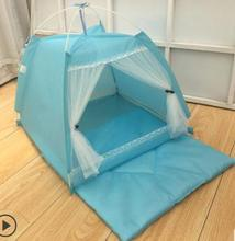 New style summer portable foldable pet tent playpen outdoor Indoor tent for cat small dog puppy tents cats nest toy house customized size luxury blackout 3d window curtains for living room animal curtains kids curtain