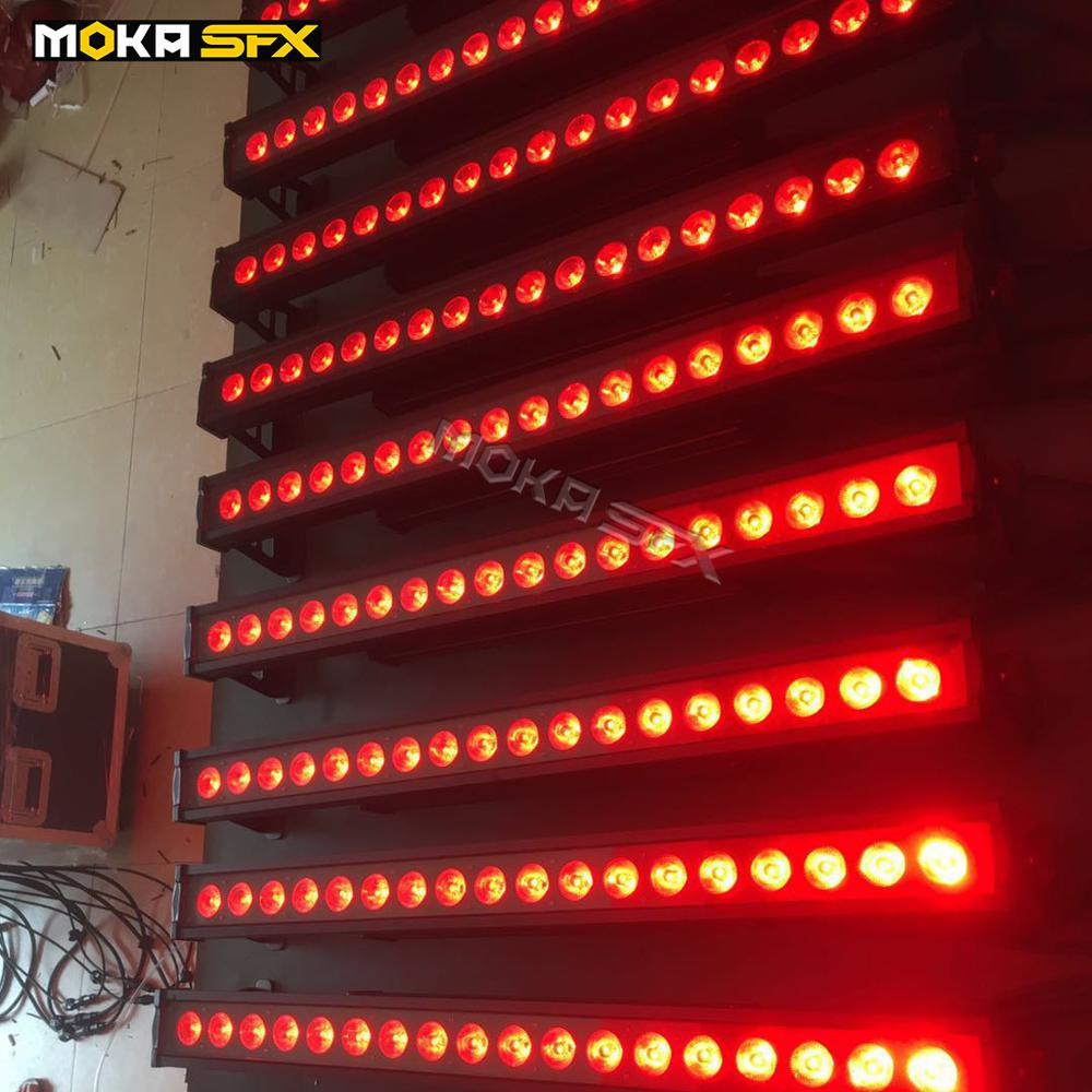 4pcs/lot Wall Wash Light RGBWA UV 6 IN 1 LED Disco Lights 18x18w Outdoor Stage Lighting For Wedding Party Show