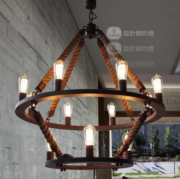 New Industral Loft 12 Lights Round Chandelier Vintage 2