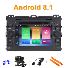 Android 8 1 Car DVD Video Player for Toyota Prado Land Cruiser 120 2002 2009 with