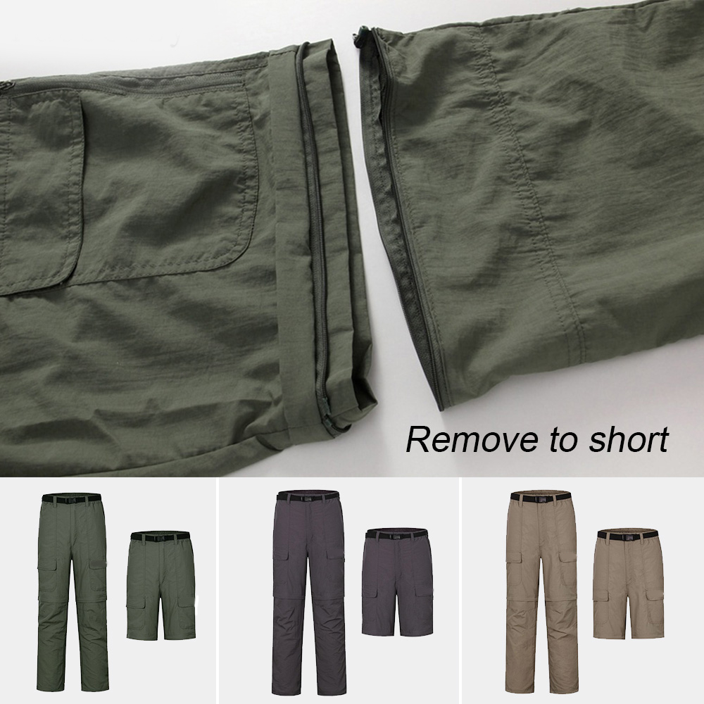 a8e68e87bf41 Men Outdoor Sports Fishing Camping Pant Summer Removable Quick Dry Hiking  Pants Thin Breathable UV Protection Trousers-in Hiking Pants from Sports ...