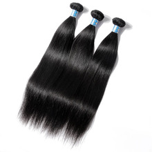 AddBeauty Straight Peruvian Virgin Human Hair Weave Bundle 1 Piece Natural Color For Black Women Salon Unprocessed Double Weft
