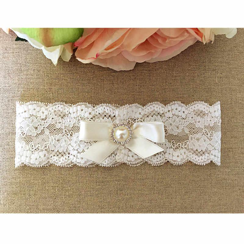 6ba073c7a Ivory Bow Lace Wedding Garter Toss Garter Wedding Garter Belt Bridal  Lingerie White Garter Wedding Accessories