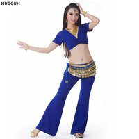 Woman S Polyester Paillette Decoration Sexy Performance Belly Dance High Quality Short Sleeve Belly Dance Top