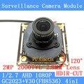 2-МЕГАПИКСЕЛЬНАЯ 1920*1080 AHD CCTV 1080 P мини-Камера ночного видения модуль 1/2.7 2000TVL 2.8 мм широкоугольный 120 градусов камеры наблюдения