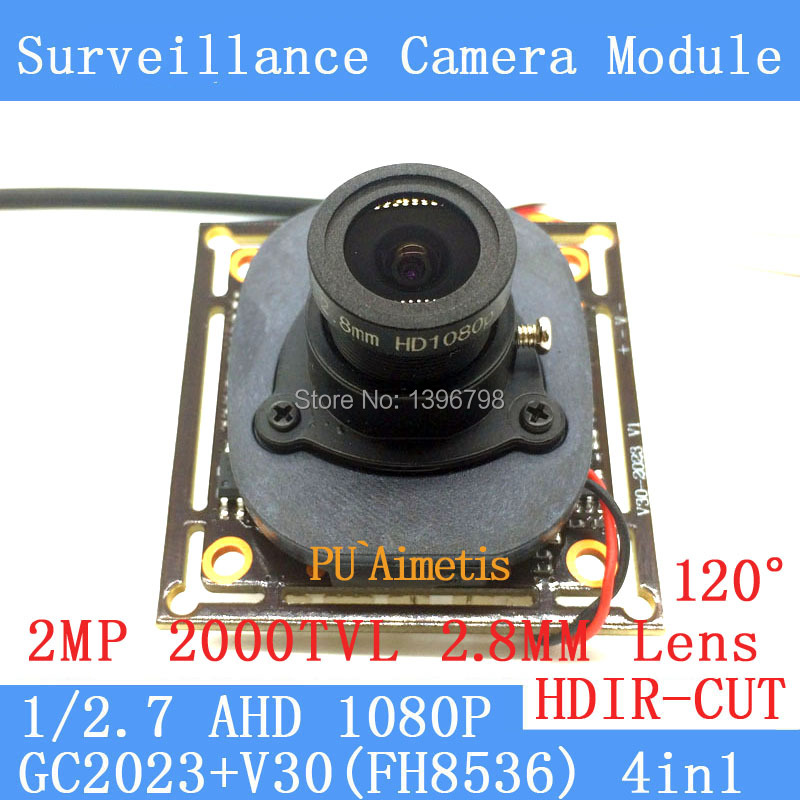 2MP 1920 1080 AHD font b CCTV b font 1080P mini night vision Camera Module 1