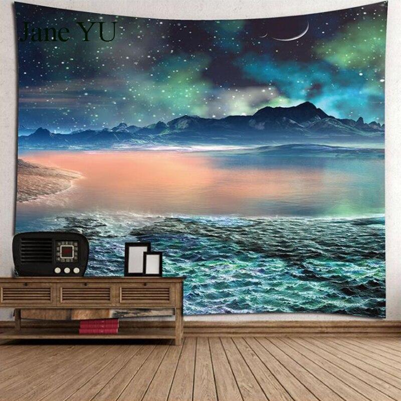 JaneYU plumes de paon maison chambre tapisserie imprimée numérique tapisserie