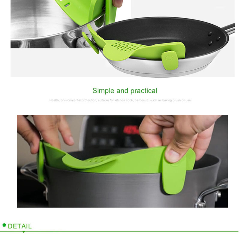 Pot Bowl Funnel Strainer Wide Mouth Silicone Kitchen Tool Rice Noodles Washing Colander Household Gadget Leakproof Drainer 5