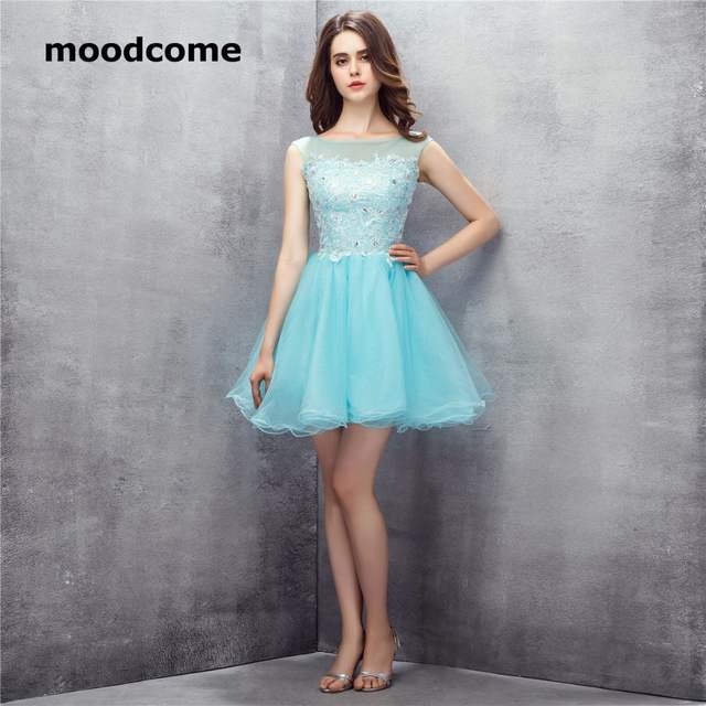 35562837d05 Online Shop 2018 Candy Color Homecoming Dresses Tulle Applique Sequins Ball  Gown Scoop Plus Size Custom Made Formal Graduation Gowns