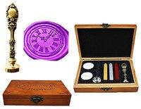 Vintage Clock Cool Custom Luxury Wax Seal Sealing Stamp Brass Peacock Metal Handle Sticks Melting Spoon