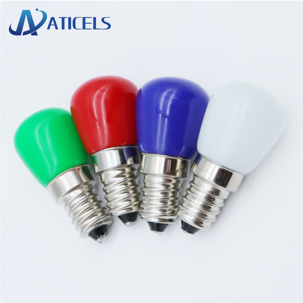 MINI E14 LED Bulb 2W AC 220V LED Lamp For Refrigerator Crystal Chandeliers Lighting White / Warm White / Red / Blue / Green