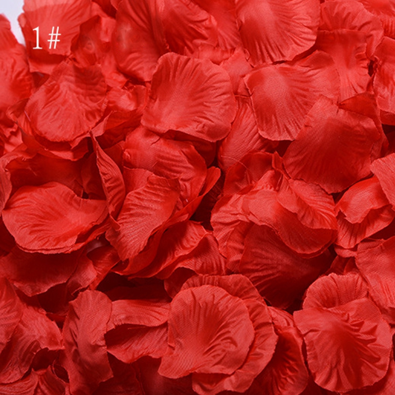 Wedding Rose Petals 1000 pcs/lot Decorations Flowers Polyester Artificial Wedding Rose Flowers Accessories mariage 2019 RS01