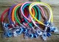 Luck Leather Cords Bracelet Turkish Hamsa Hand Of Fatima Evil Eye Charms For Women & men Gift 20pcs/lot