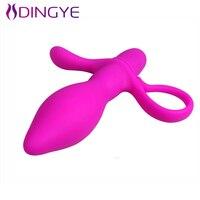 Dingye 실리콘 섹스 제품 진동 엉덩이 플러그 포르노 성인 섹스 항문 BI-014287