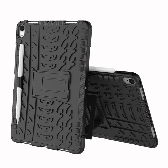 CARPRIE Smart For iPad Pro 11 inch 2018 Hybrid Rugged Hard Rubber PC Stand Case Cover