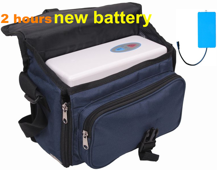 2 hours battery 5600mAh Mini oxygen bar Air purifier Carry-on Oxygen Concentrator  3L Oxygen Inhaler  Oxygenerator(China)