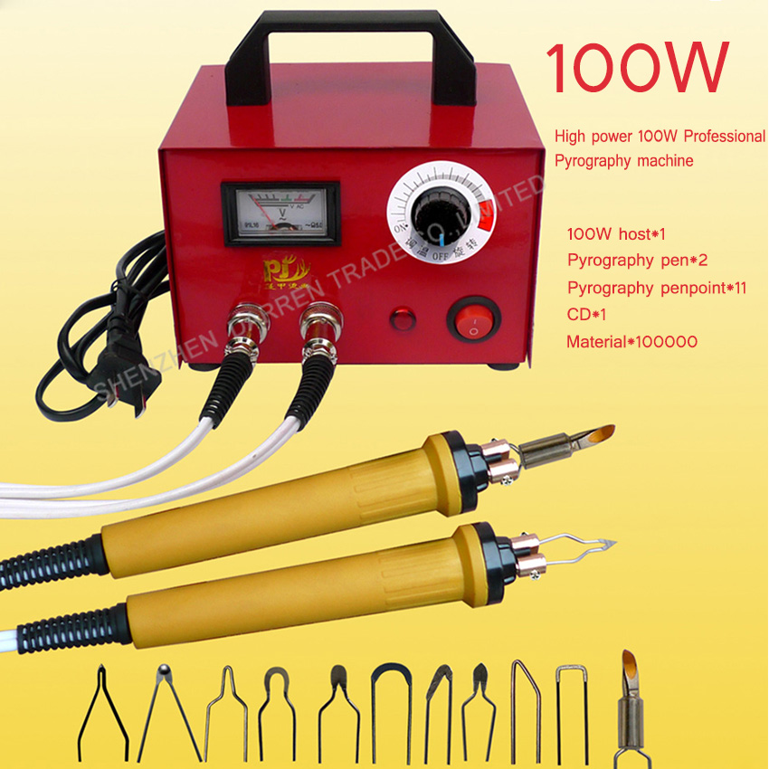 1PC Professional Electrocautery pen Pyrography machine STL Pyrograph pen 100W 220V/110V For Gourd,Plank,Leather,bark eiki 23040047 elmp24 lamp for lc wau200 lc xns3100 lc xns2600 lc wns3200 projector 5000 hours 230 watts nsha