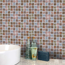 18pcs/set Mosaic Wall Sticker Shell Waterproof Removable Self-adhesive Tile Art Decal for Kitchen Bathroom Home Decor Wallpaper ceramic fresh green glazed mosaic tile for kitchen bath shower tv fireplace background home art design wallpaper sticker lssp11