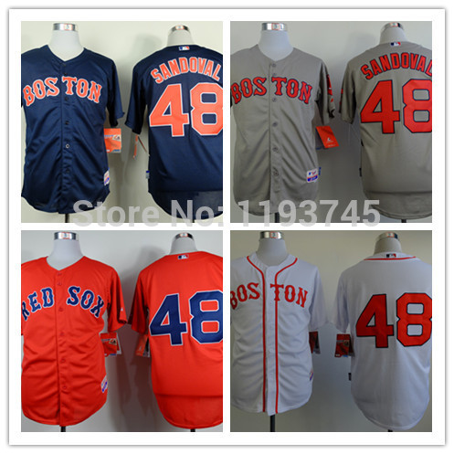 32f1d2069daa New Arrival Mens Boston Red Sox Jerseys #48 Pablo Sandoval Baseball  Jersey,All Name Number Stitched,Accept Mixed Orders