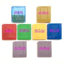 Кристалл Золотой Красный Зеленый Желтый Синий Серебряный Оранжевый выбор язык для 16 бит игровой консоли для видеоигр карта памяти