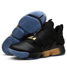 Nouvelle marque hommes chaussures de basket-ball de luxe amortissement de l'air rouge/noir sport baskets haut respirant baskets en cuir en plein Air bottes