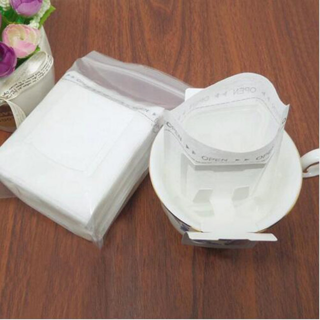 50Pcs/Pack Drip Coffee Filter Bag Portable Hanging Ear Style Coffee Filters Paper Home Office Travel Brew Coffee Bolsas de te