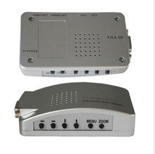Universal PC VGA to TV AV RCA Signal Adapter Converter Video Switch Box Supports NTSC PAL for computer peripherals цена в Москве и Питере