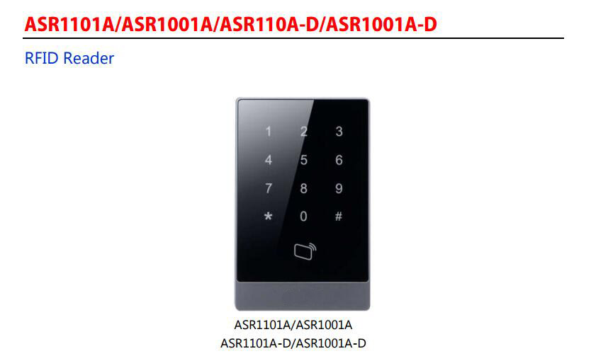 In Stock Free Shipping DAHUA Access Control Reader RFID Reader Without Logo ASR1101A in stock dahua free shipping 4 ch unit net distributor without logo vtna1040b