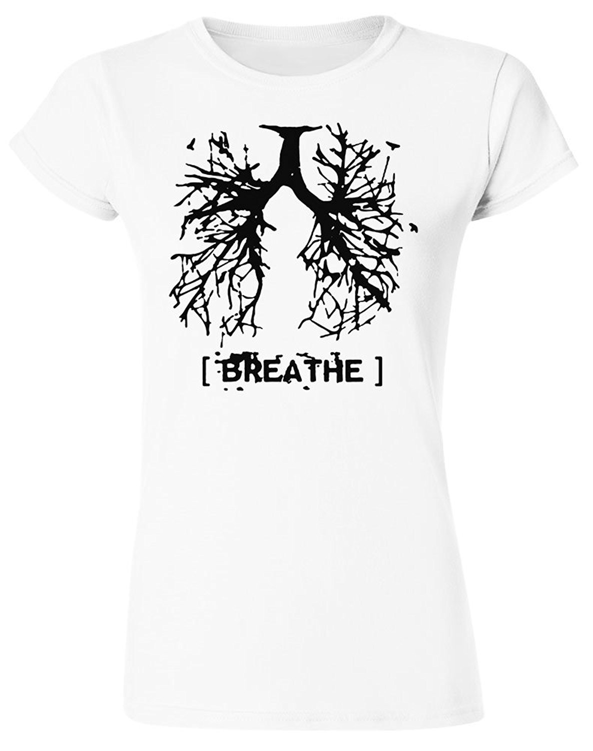 Breath Lungs Made Out Of Tree Roots Womens T Shirt Print T Shirt