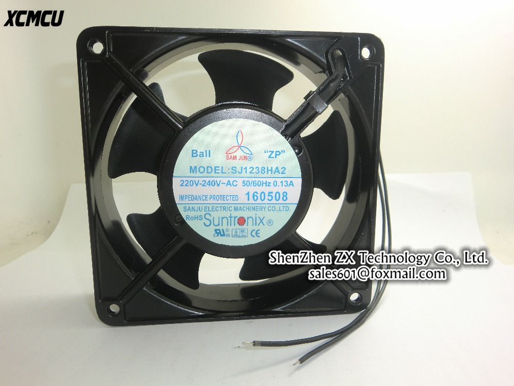 Original cooling fan 220V SJ1238HA2 120mm 12038 120*120*38 mm AC 220V-240V 50/60HZ 0.13 case axial metal frame In stock~ charter club new blue sky women s medium m cable knit crewneck sweater $59 359